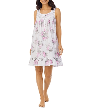 Printed Sleeveless Short Nightgown