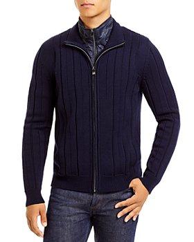 Corneliani - Technical Wool Zip Sweater