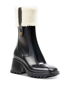 Chloé - Women's Betty Shearling Cuff Rain Boots
