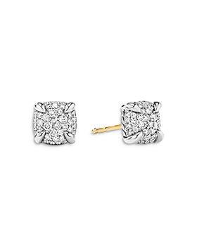 David Yurman - Sterling Silver Petite Chatelaine® Diamond Pavé Stud Earrings