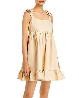 Sabrina Ruffled Twill Mini Dress