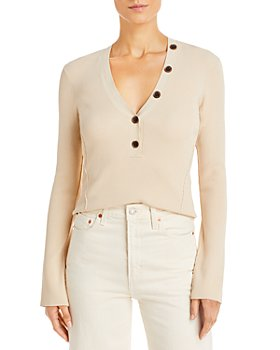 FRAME - Long Sleeve Ribbed Top