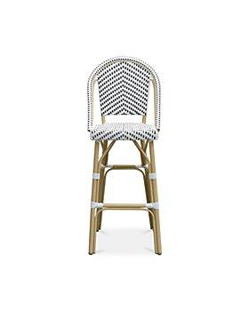 Sparrow & Wren - Haley Wicker Patio Bar Chair, Set of 2