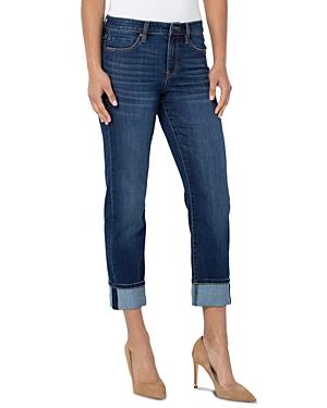 Marley Cuffed Girlfriend Jeans in Bartlett