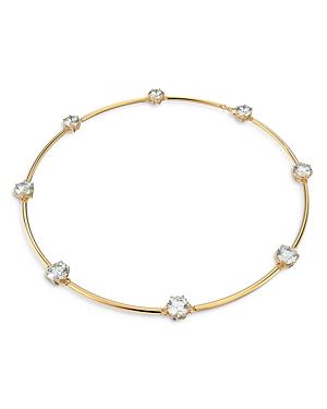 Swarovski Constella Crystal Choker Necklace in Gold Tone, 14.13-16.13