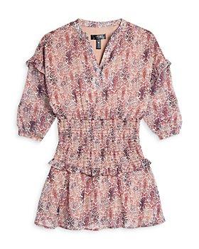 AQUA - Girls' Printed Smocked Dress - Big Kid - 100% Exclusive