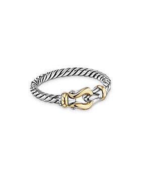 David Yurman - Petite Buckle Ring with 18K Yellow Gold