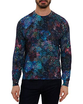 Robert Graham - Rockhampton Cotton & Linen Paisley Classic Fit Crewneck Sweater