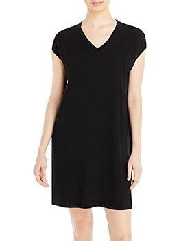 Eileen Fisher - Boxy V Neck Dress