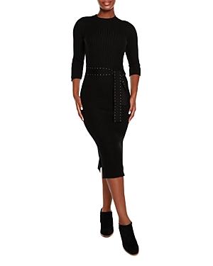 Ribbed Sweater Midi Dress