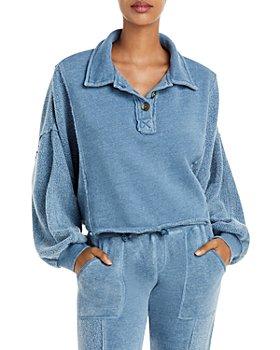 Vintage Havana - Burnout Henley Sweatshirt