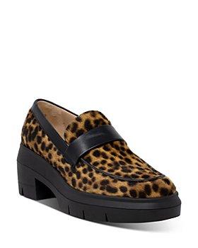 Stuart Weitzman - Women's Aiden Leopard Print Calf Hair Loafers