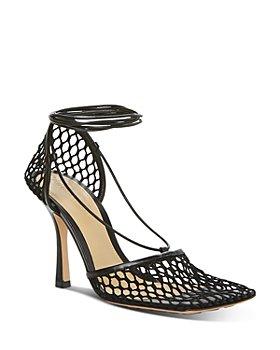 Bottega Veneta - Women's Stretch Mesh Ankle Tie Sandals