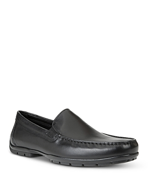 Geox Men's Moner 2 Fit Leather Moc Toe Loafers