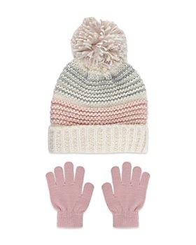 Capelli - Girls' 2 Pc. Pom Hat & Gloves Set - Big Kid