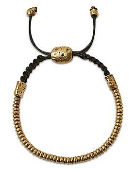 John Varvatos Collection - Men's Brass Simitbrass Beaded Bolo Bracelet