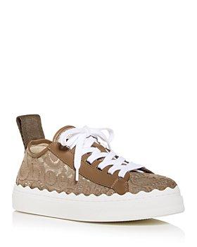 Chloé - Women's Lauren Lace Low Top Sneakers