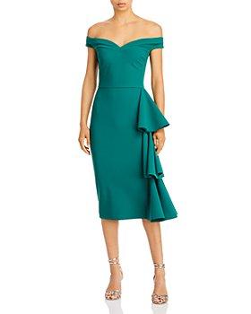 Chiara Boni La Petite Robe - Willa Ruffled Off the Shoulder Dress