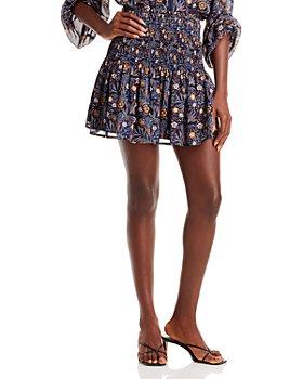AQUA - Smocked Mini Skirt - 100% Exclusive