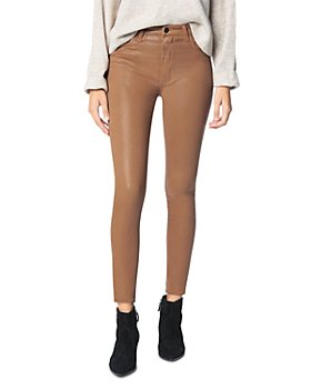 Joe's Jeans - The Charlie Coated Ankle Skinny Jeans in Maple