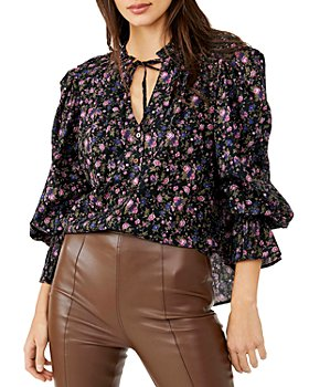 Free People - Meant To Be Floral Print Smocked Top