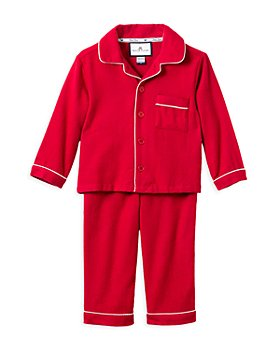 Petite Plume - Unisex Red Flannel Pajama Set - Baby, Little Kid, Big Kid