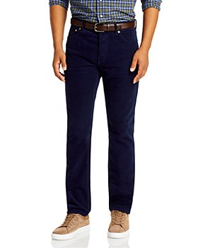 Sid Mashburn - Slim Straight Fit Corduroy Jeans in Navy