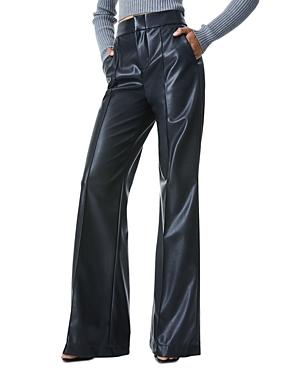 Dylan Vegan Leather Wide Leg Pants