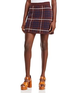 Plaid Knit Sweater Skirt