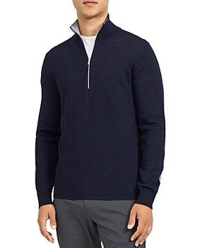 Theory - Arnauld Half Zip Merino Sweater