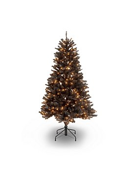 National Tree Company - North Valley Black Spruce Hinged Tree with Clear Lights