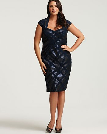 Tadashi Shoji Plus Size Sequined Sweetheart Cage Dress Bloomingdales