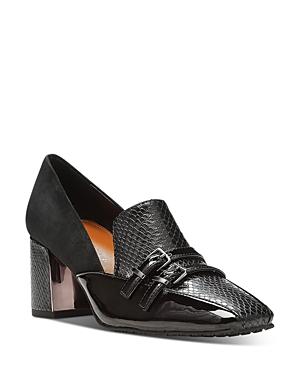 Donald Pliner Women's Square Toe Loafer Pumps In Black