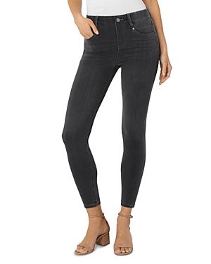Gia Glider Ankle Skinny Jeans in Meteorite