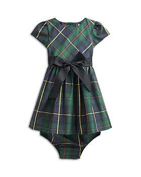 Ralph Lauren - Girls' Plaid Taffeta Fit & Flare Dress & Bloomer Set - Baby