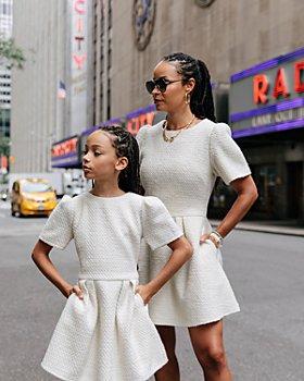 AQUA - Mommy & Me Bouclé Mini Dress