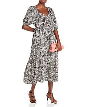 AQUA - Bow Front Floral Dress - 100% Exclusive