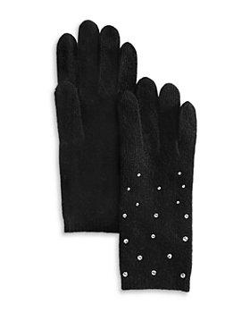 Carolyn Rowan Accessories - Faux Pearl Cashmere Gloves
