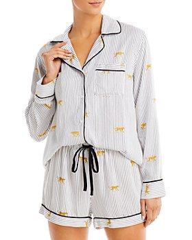 Rails - Clara Animal Stripe Print Short Pajama Set