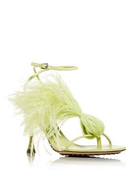 Bottega Veneta - Women's Feather Dot High Heel Sandals