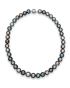 "Natural Color Tahitian Pearl And 14K White Gold Strand Necklace, 18"" - Bloomingdale's_0"