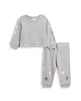 Splendid - Girls' Metallic Star Sweatshirt & Jogger Pants Set - Baby