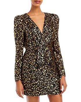 AQUA - Printed V Neck Dress - 100% Exclusive