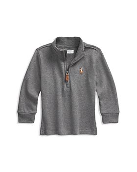 Ralph Lauren - Boys' Cotton Interlock Quarter Zip Pullover - Baby