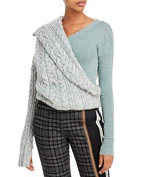 Hellessy - Kristina Mixed Media Asymmetric Sweater