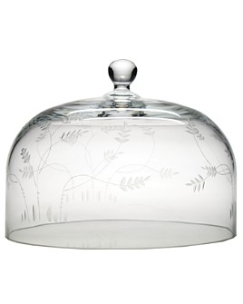 """William Yeoward Crystal - Country """"Wisteria"""" Cake Dome, 12"""""""