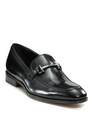 Salvatore Ferragamo Patent Leather Bit Loafers