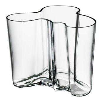"""Iittala - Aalto 4.75"""" Clear Vase"""