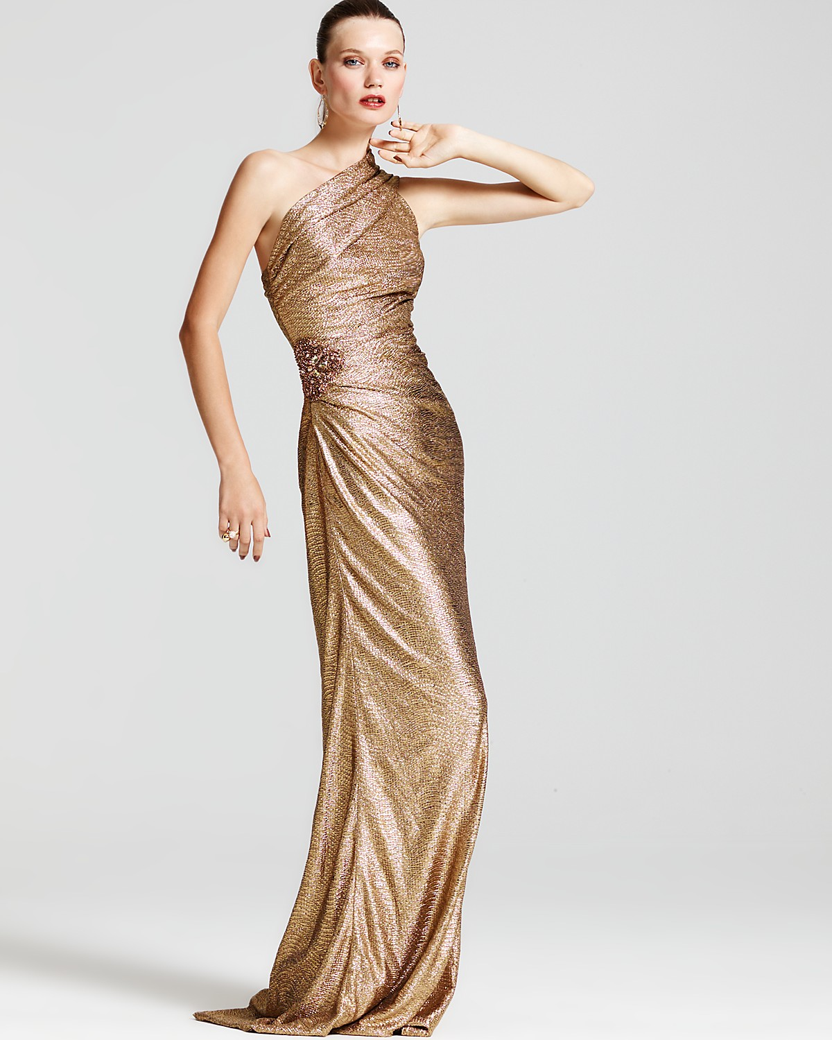 Enchanting David Meister Metallic Gown Embellishment - Images for ...