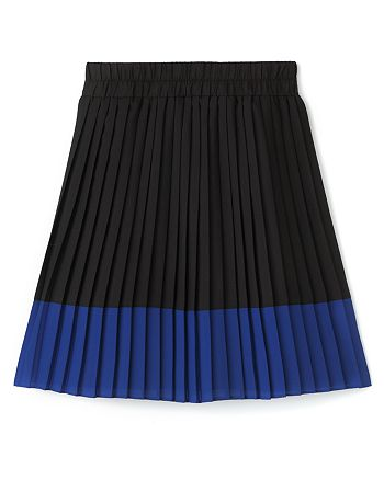 AQUA - Girls' Color Block Pleated Skirt, Sizes S-XL - 100% Exclusive